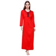 Secret Wish Women's Woolen Red Nighty