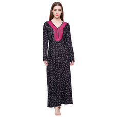Secret Wish Women's Woolen Black Nighty