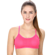 Padded Sports Bra in Hot Pink