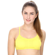 Padded Sports Bra in Yellow
