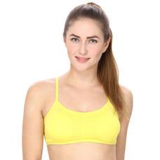 Padded Sports Bra in Yellow