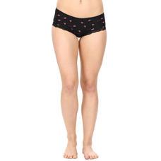 Mid Waist Bikini Panty-Black