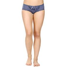 Mid Waist Bikini Panty-Blue