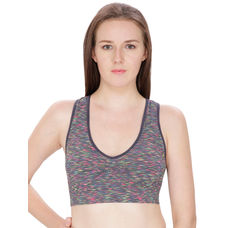 Secret Wish Grey Color Padded Sports Bra