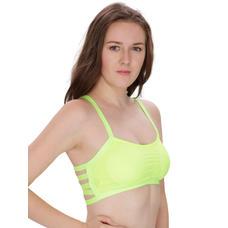 Secret Wish Padded Bra Bralette Fluorescent Green