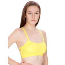 Secret Wish Padded Bra Bralette Yellow