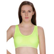 Secret Wish Padded Fluorescent Green Padded Sports Bra