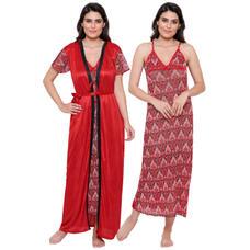 Secret Wish Women's Satin Robe with Nighty