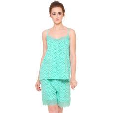 Pink By Secret Wish Women's Turquoise Blue Hosiery Night Suit