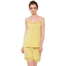 Pink By Secret Wish Women's Yellow Hosiery Night Suit