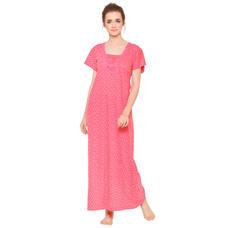 Pink By Secret Wish Women's Pink Hosiery Nighty