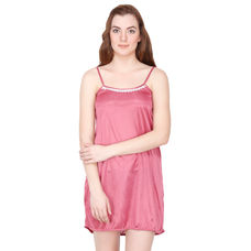 Secret Wish Satin Mauve Babydoll Night Dress