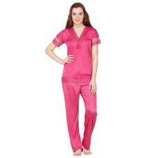 Secret Wish Satin Pink Nightsuit