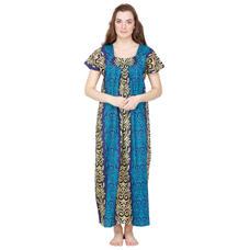 Secret Wish Cotton Blue Nighty, Nightdress