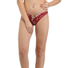 Secret Wish Satin Deep Red Bikini