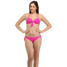 The Bright Pink Halter Bikini