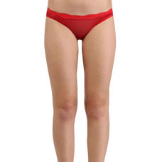 Secret Wish Lacy Blood Red Hipster