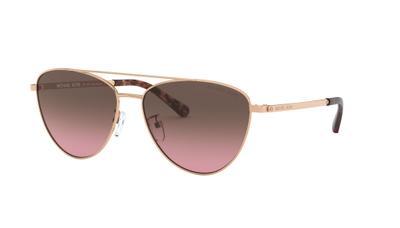 Black Magenta Gradient Mirror Sunglasses