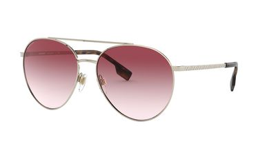 Clear Gradient Pink Sunglasses