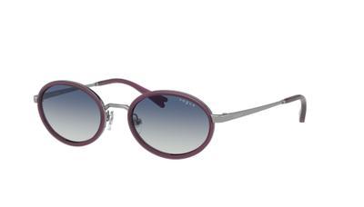 Light Grey Gradient Blue Av Sunglasses
