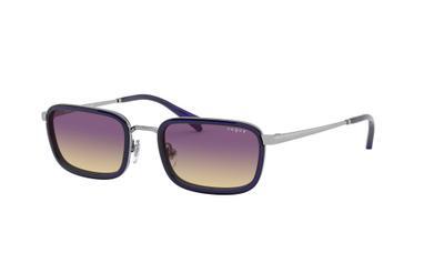 Yellow Gradient Violet Sunglasses