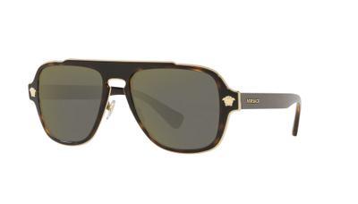 Dark Grey Mirror Gold Sunglasses