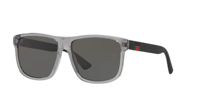 Solid Polarized Grey Sunglasses