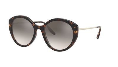 Brown Gradient Grey Mirror Silver Sunglasses