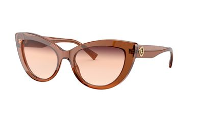 Orange Gradient Brown Sunglasses