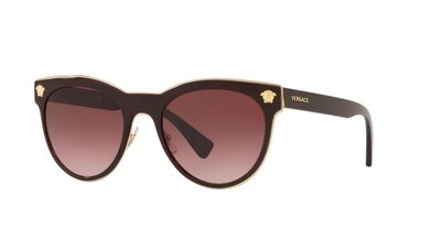 Pink Gradient Dark Violet Sunglasses