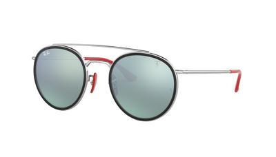 Light Green Mirror Silver Sunglasses