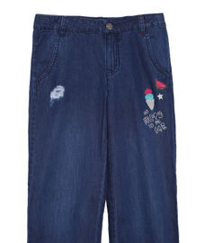 GIRLS SOLID FULL PANTDENIM