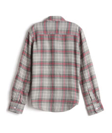 BOYS Y/D CHECK HALF SLEEVE SHIRT