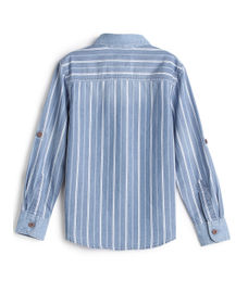BOYS Y/D STRIPE FULLSLEEVE SHIRT