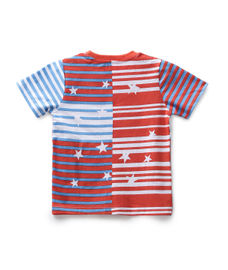 BOYS STRIPE PRINTED HALF SLEEVE T-SHIRT