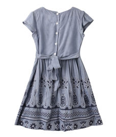 GIRLS CAP SLEEVE WOVEN DRESS