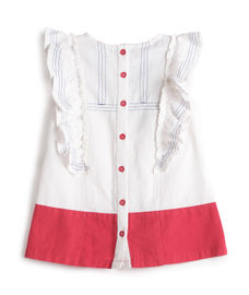 GIRLS CAP SLEEVE WOVEN TOP