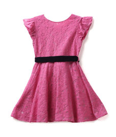 GIRLS CAP SLEEVE DRESS