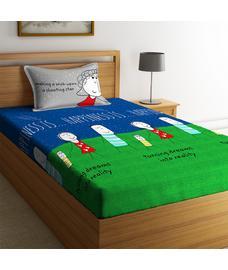 Happiness Is Bedsheet Single Size