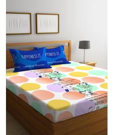 Happiness Is Bedsheet Double Size