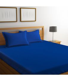 Percale Cobalt Bedsheet King Size