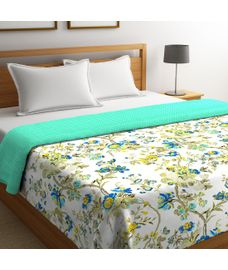 Portico New York Cadence Collection - Multi-Coloured Floral Print King Size Comforter (100% Cotton, Reversible)