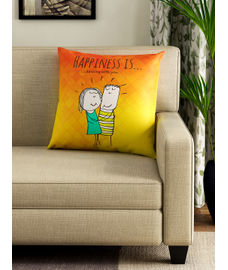 Happiness Is Filled Cushion