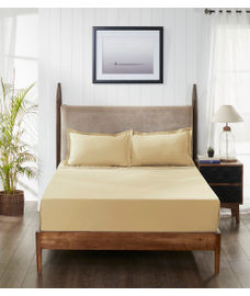 Percale Hazel Fitted Sheet Double Size