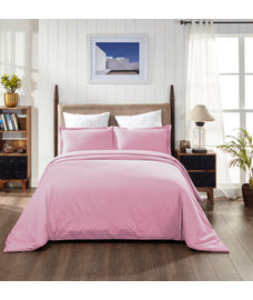 Percale Baby Pink Duvet Cover King Size
