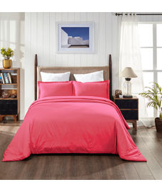 Percale Paradise Pink Duvet Cover King Size