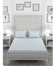 Just Us Premium Silky Grey Bedsheet Super King Size