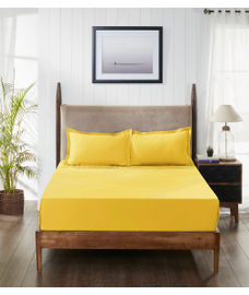 Supercale Golden Haze Bedsheet Super King Size
