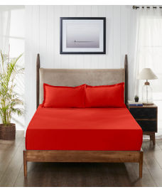 Supercale Red Flame Bedsheet Super King Size