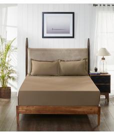 Percale Oatmeal Bedsheet Double Size